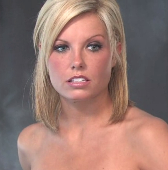 Shy girl Addison gets nude for the first time