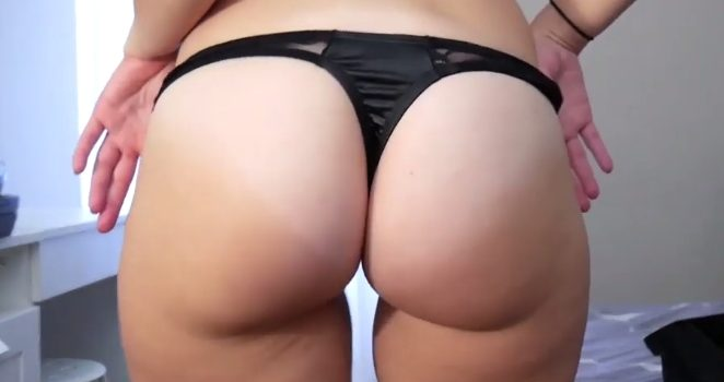 Ashley panty try on